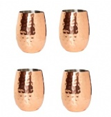 Set 4 Copper color Wine and Cocktail Cups