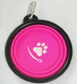 Custom Logo Collapsible Silicone Foldable Travel Food Pet Dog Bowl