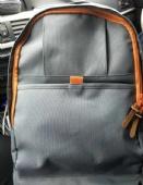 modern vintage-inspired black laptop backpack, school bag outdoor day backpack