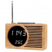 Clock FM Auto Scan Radio