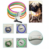 USB Rechargeable Pet LED Flashing Collar