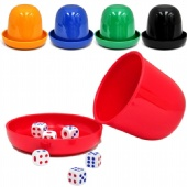 Mini Roller Cups Tray with 5 Dices