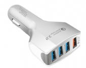 4-Port USB Quick Charge 3.0 Car Charger-- Charging Fast