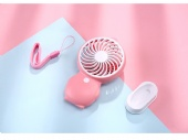 USB Rechargeable Mini Fan with Lanyard and Removable Stand