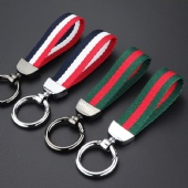 Metal Keychain with Nylon Strap