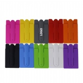 Silicone Cell Phone Wallet with Finger Ring Stand