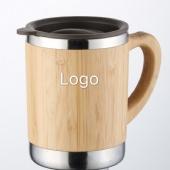 Stainless Steel Bamboo Insulated Mug