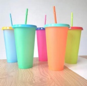Color Changing Plastic PP Cold Water Cup
