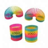 Rainbow Circle Toy Plastic Magic Spring Coil Loop
