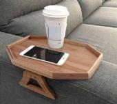 Wooden Tray Sofa Arm Clip Food Tray Table