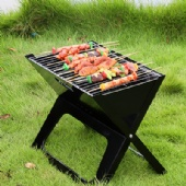 X-type folding barbecue grill