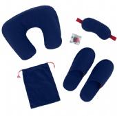 Blindfold Slippers Travel Portable Storage Bag Set Kit
