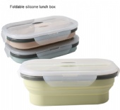 Silicone Foldable Fresh-keeping Retractable Picnic Lunch Box