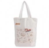 Portable Fashion Folding Shopping Canvas Cotton Bag Printed