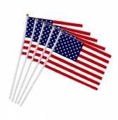 American Polyester Hand Waving Flag with Pole