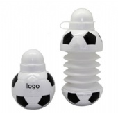 Collapsible Soccer Water Bottle
