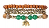 Good Luck New Beginnings Stretch Bracelet Stack Collection
