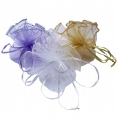Round Organza Gift Promotion Pouch Wedding Jewelry Bag