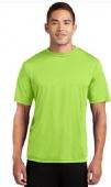 100% polyester moisture wicking t-shirt