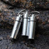Earplug in Aluminum Waterproof holder Keychain